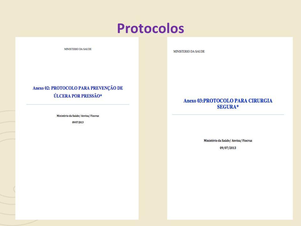 Protocolos Pergunta: inserimos apenas aqueles que já foram publicados [elo MS